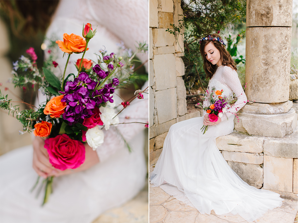 beautiful flowers wedding day in Round Top Texas Hill Country Wedding