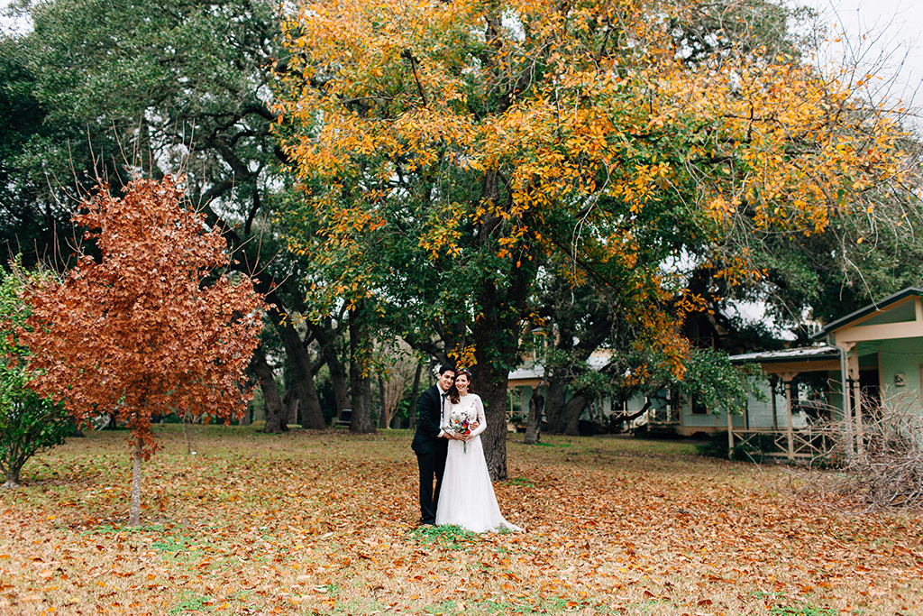 Fall Texas hill country wedding