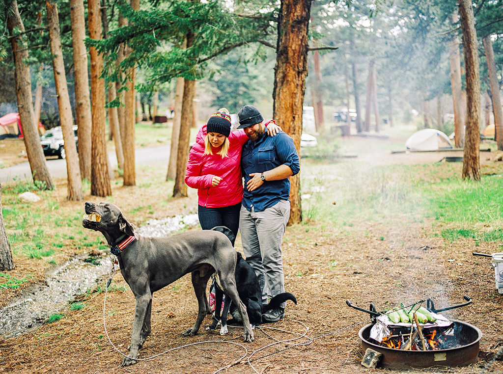 Camping engagment session in Colorado Rocky Mountain State Park