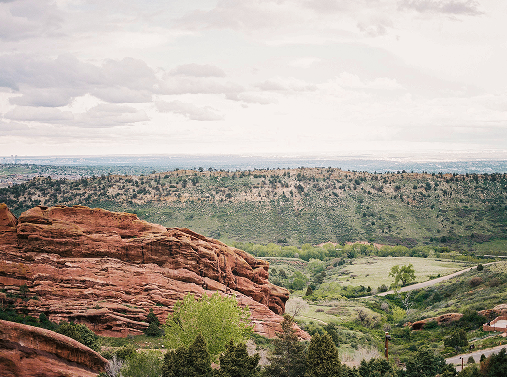 landscape of Red Rocks Amphitheatre in Colorado
