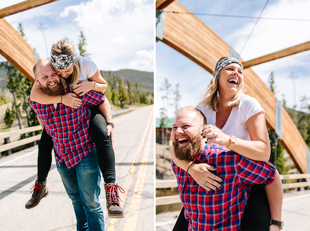 engagement session in Denver Colorado at the Rocky Mountain State Park
