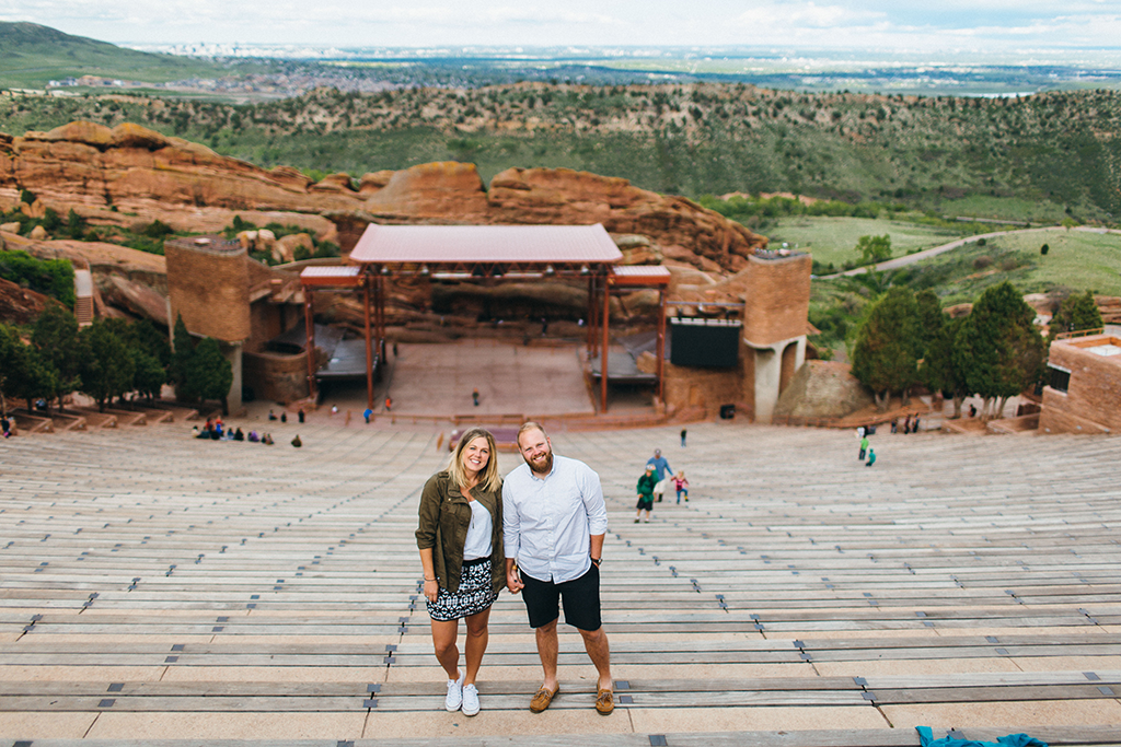 Engagement session at the Red Rocks Amphitheatre in Colorado