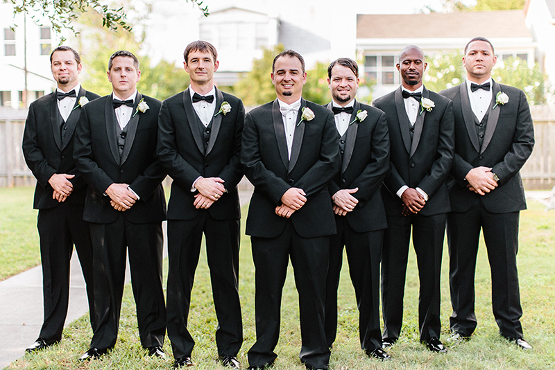 Groomsmen bridal party portraits at the Grace Episcopal Church