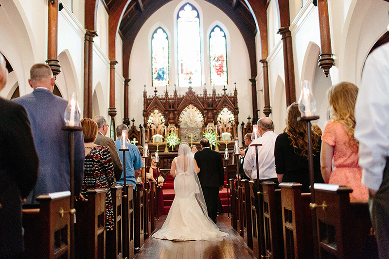 wedding taking place in the Grace Episcopal Church