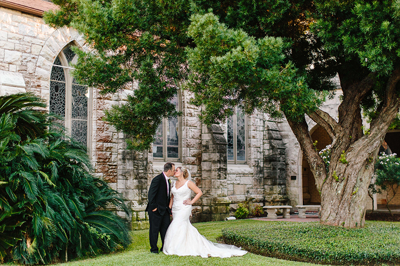 Bride and Groom portrait at the Grace Episcopal Church