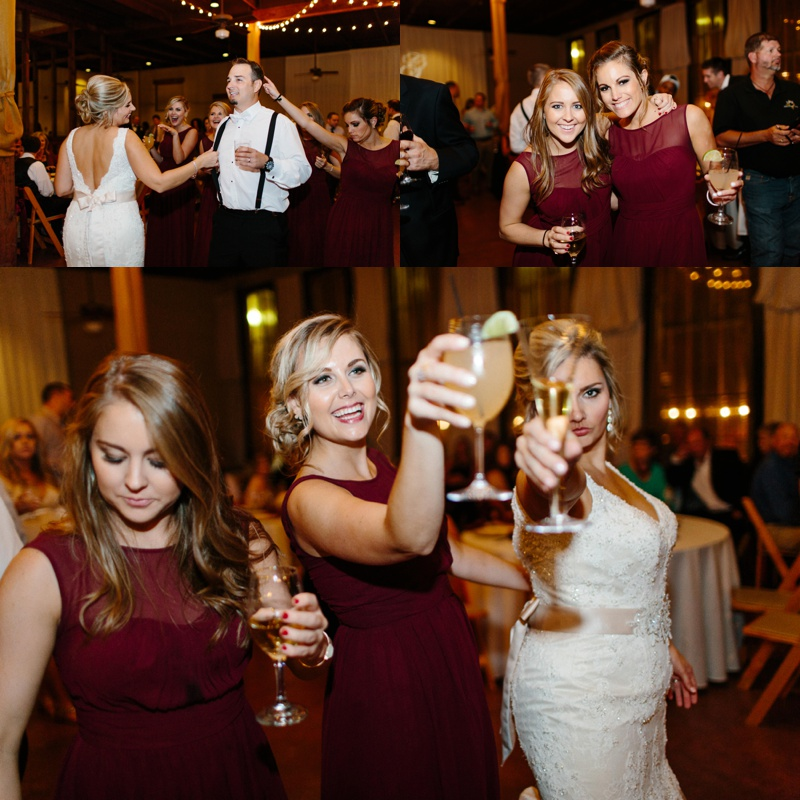 Party photos from a beautiful wedding reception at Trolley Station Wedding