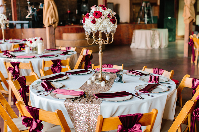 beautiful sequin table cloth for wedding reception at texas wedding flowers centerpiece