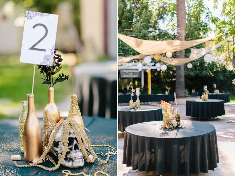halloween themed wedding reception at The French Estate in Orange County California