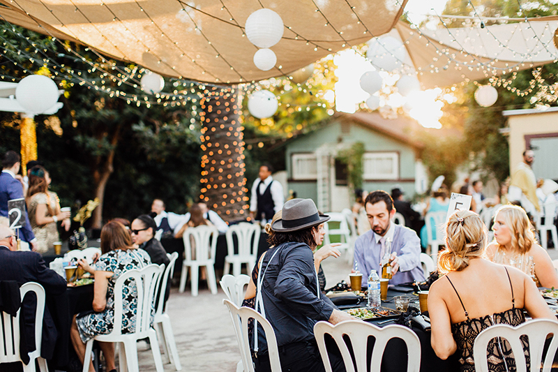 wedding reception at the The French Estate in Orange County California