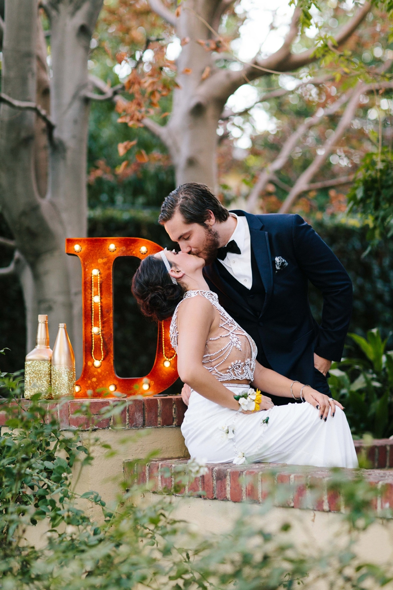 bride and groom portraits beautiful Fall October wedding at the The French Estate in Orange County California