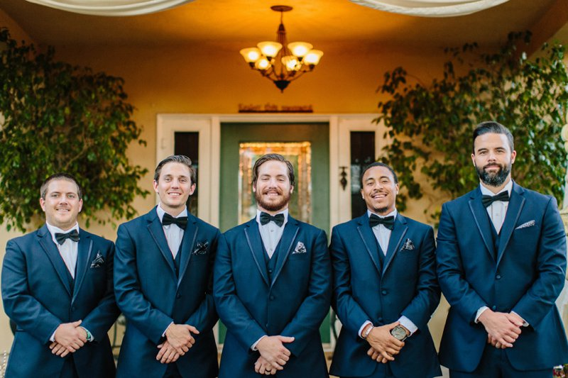 group of groomsmen beautiful Fall October wedding at the The French Estate in Orange County California
