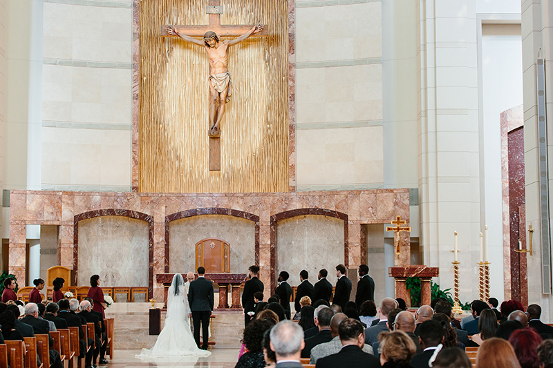 Co-Cathedreal of the Sacred Heart in Houston, Texas wedding