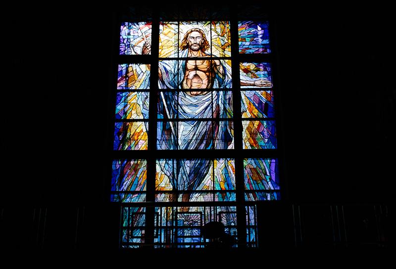 stained glass in Co-Cathedreal of the Sacred Heart in Houston, Texas