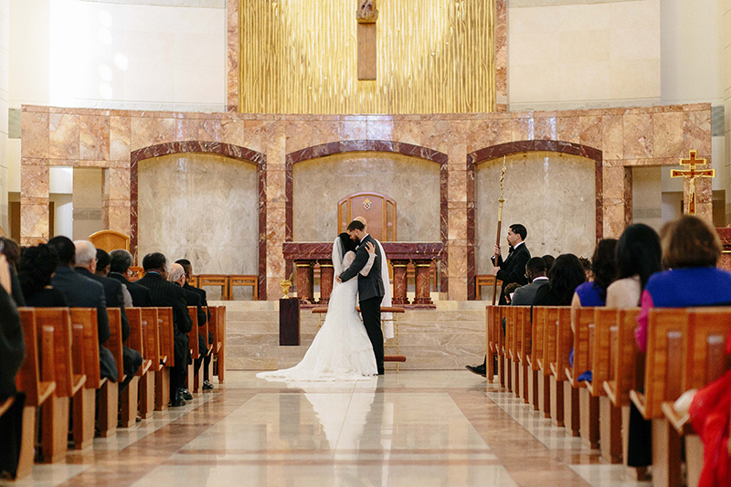 wedding at Co-Cathedreal of the Sacred Heart in Houston, Texas